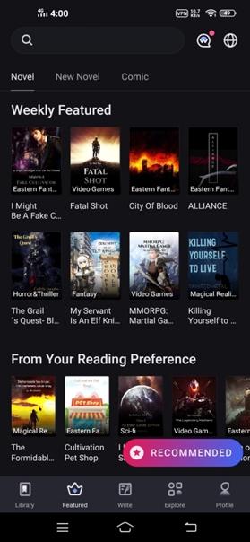 Thumbnail of Web novel