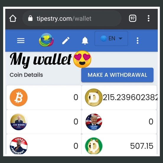 Thumbnail of Join tipestry(free speech site) to earn dogecoin and dogecoincash